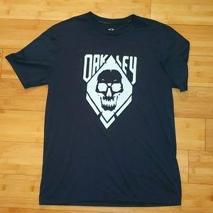 Oakley skull black t shirt large